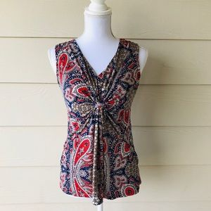 Daisy Fuentes•Printed Blouse